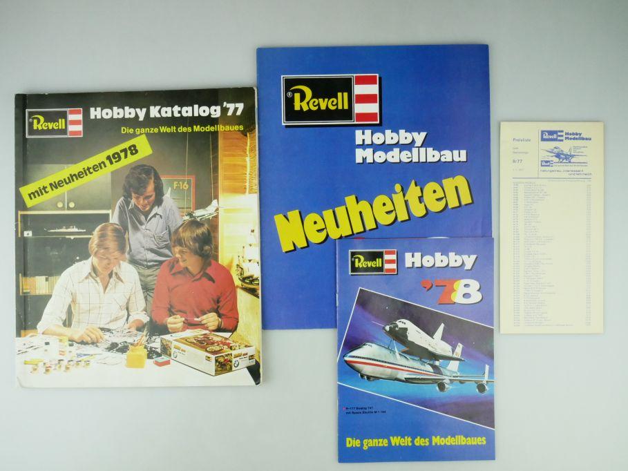 Revell Bausatz Hobby Katalog 1977 161 S kit catalog kits + Neuheiten 1978 109570