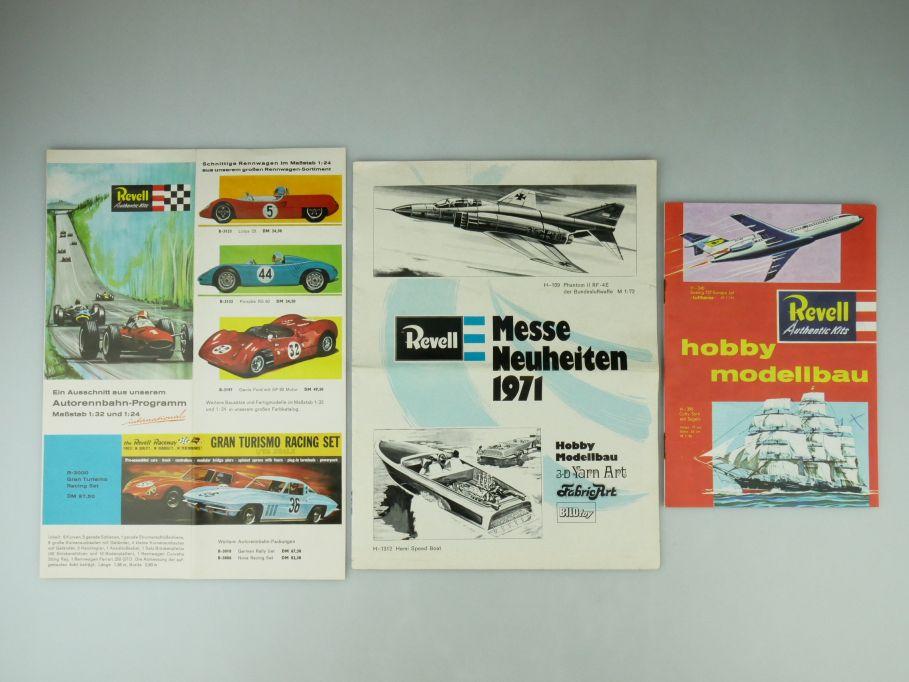 3x Revell Katalog Neuheiten 1971 Hobby Modellbau Rennbahn kit Bausatz 109571