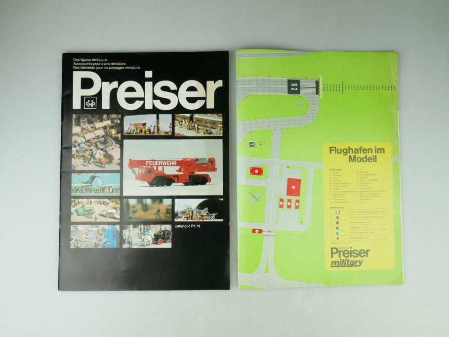 Preiser Katalog PK 18 1986 100 S. Frankreich Flughafen im Modell military 109572
