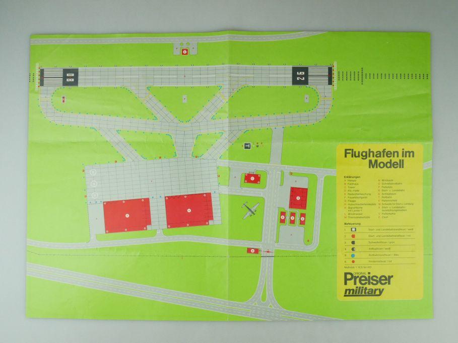 Preiser Faltblatt Din A3 Flughafen im Modell military airport leaflet 109573