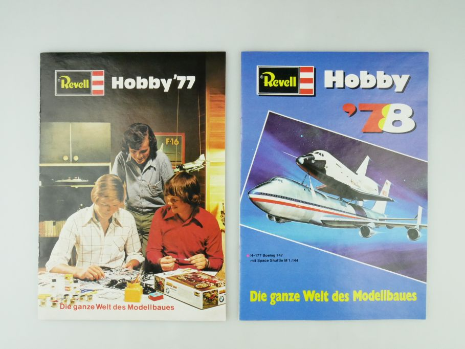 2x Revell Hobby ´77 ´78 Katalog Din A5 16 S. Modellbau 1977 1978 catalog 109574