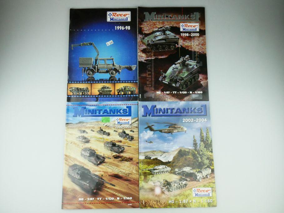 4x Roco H0 N Minitanks Konvolut Prospekt Katalog catalog 1996-2004 109577