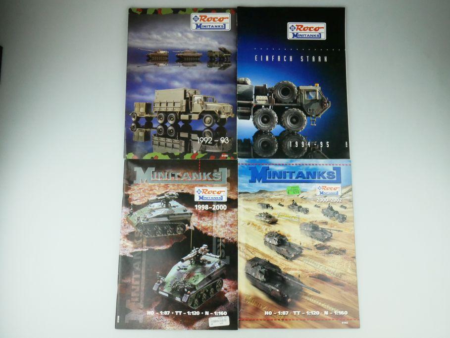 4x Roco 1/87 N TT Minitanks Prospekt Katalog 1992-95 1998-2002 Militär 109578