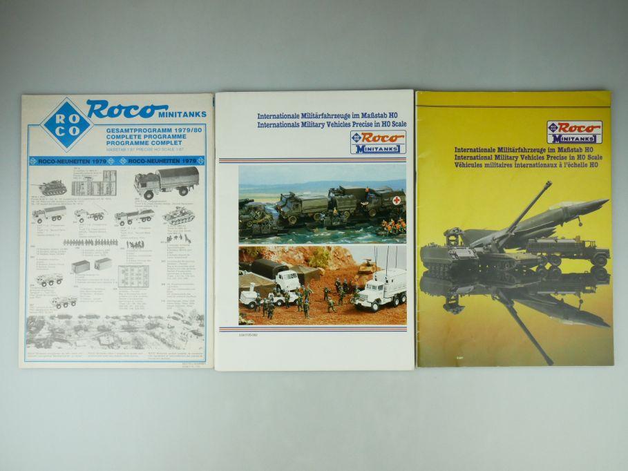 2x Roco Minitanks H0 1/87 Katalog 1983 1987 + Neuheiten 1979 109580