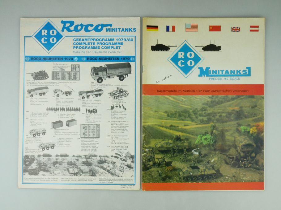 Roco Minitanks H0 1/87 Katalog 1977 + Neuheiten 1979 catalog 109582