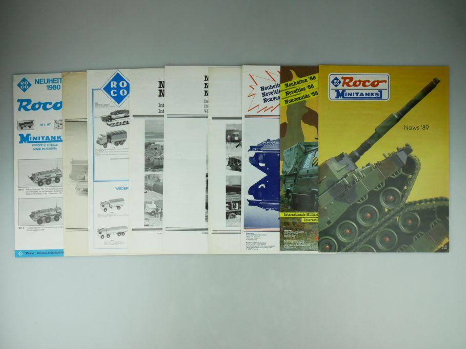 Roco Minitanks H0 1/87 Neuheiten 1980-1989 ohne 1983 news Katalog catalog 109583