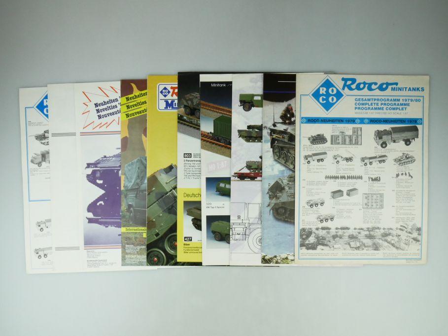 10x Roco Minitanks 1/87 Neuheiten 1979 82 85 1987-90 1993-94 98 Katalog 109585