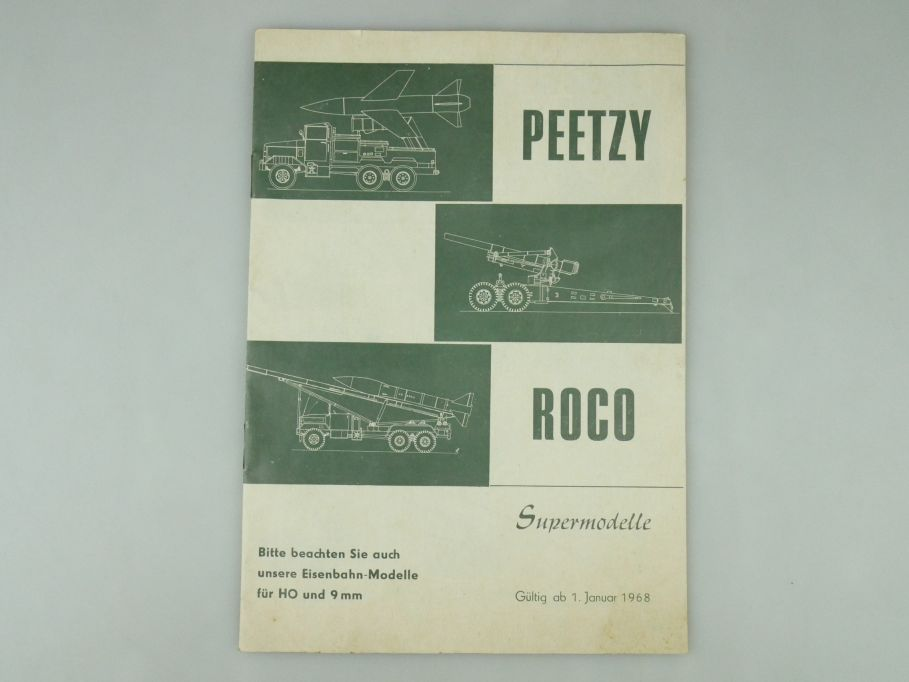 Peetzy Roco Supermodelle H0 9mm 1968 Katalog 20 S. Prospekt Minitanks 109586