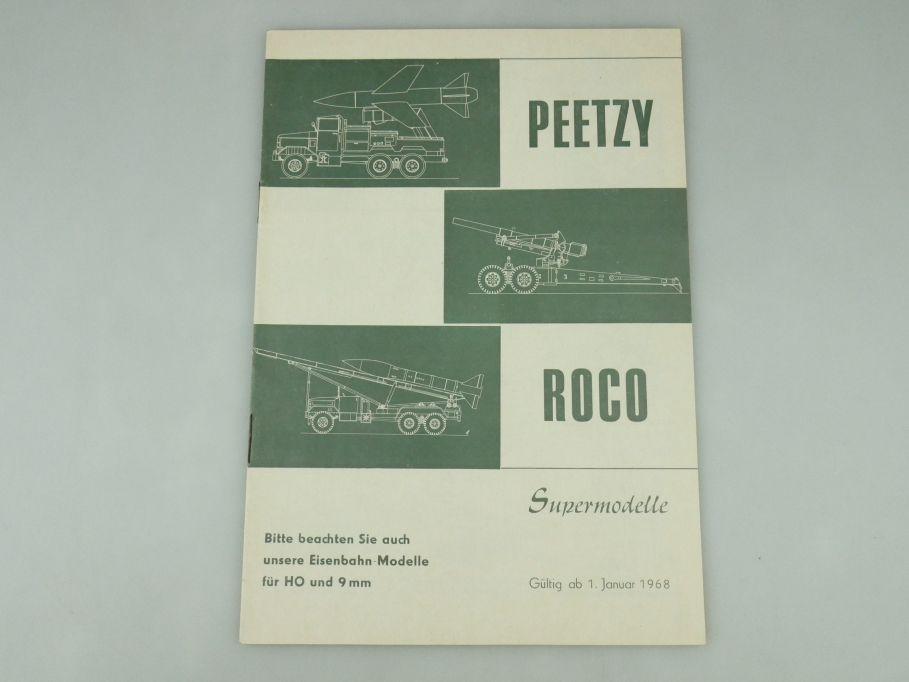 Peetzy Roco Supermodelle H0 9mm 1968 Katalog 20 S. Prospekt Minitanks 109587