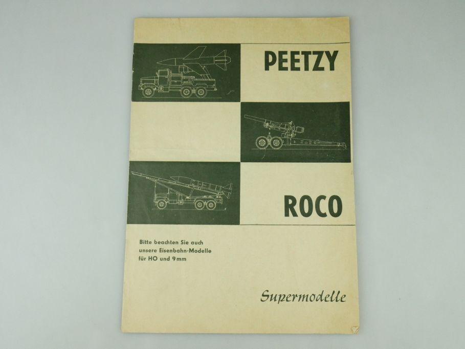 Peetzy Roco Supermodelle H0 9mm 1966 Katalog 12 S. Prospekt Minitanks 109589