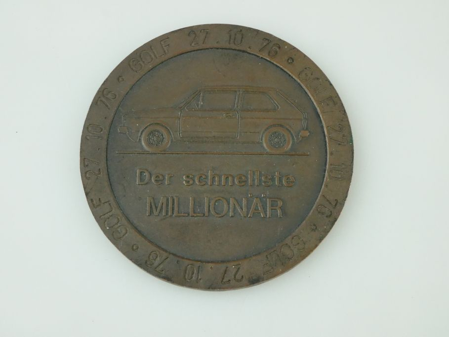 Volkswagen VW Golf 1 Medaille der schnellste Millionär 1976 medal Golf I 109450