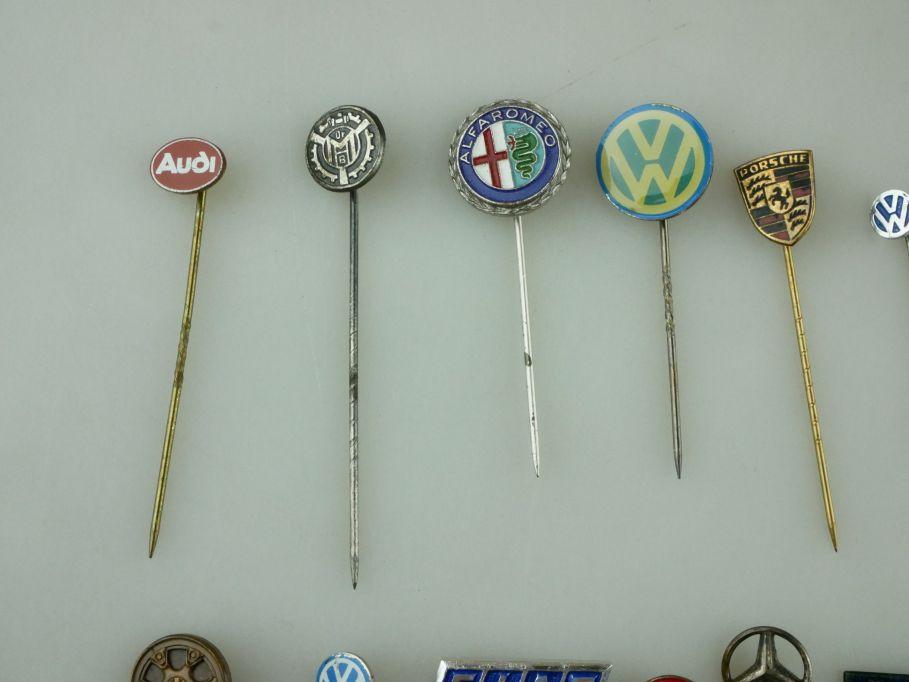 18x Anstecknadel VW Porsche Audi Fiat Mazda Mercedes VDO Alfa Autol pin 109462