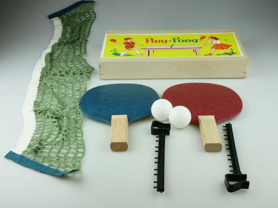 Ping Pong VEB Kamenzer Spielwaren im Karton Tischtennis table tennis DDR 109485