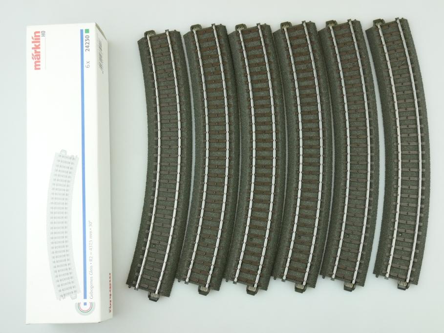Märklin H0 AC 6x Gebogenes C-Gleis 24230 unbenutzt OVP PTA 109466