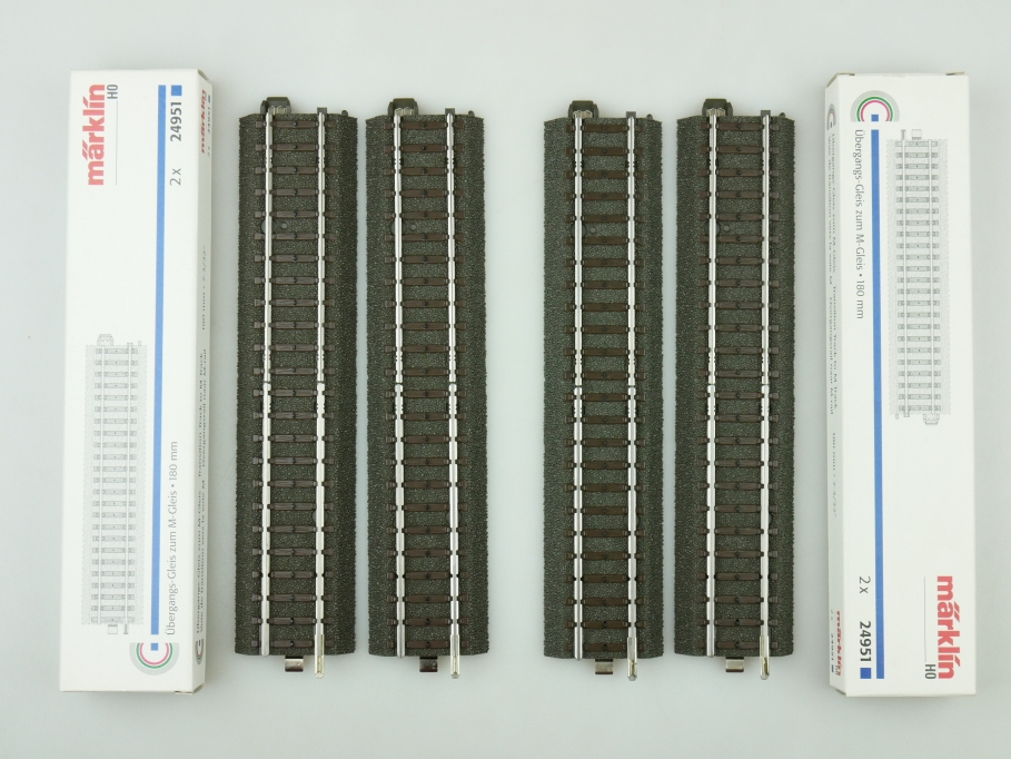Märklin H0 AC 4x Übergang für C-Gleis/ M-Gleis 24951 unbenutzt OVP PTA 109467