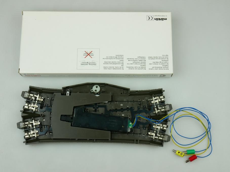 Märklin H0 AC C-Gleis Doppel-Kreuzungs-Weiche + Antrieb 24620 + 74490 PTA 109468