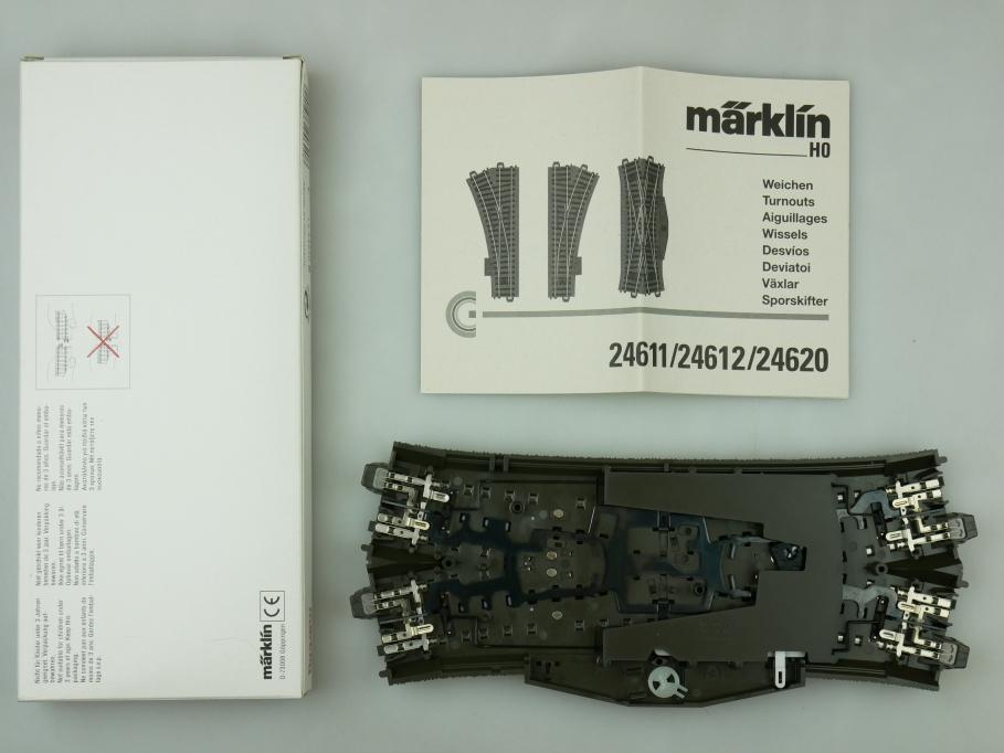 Märklin H0 AC C-Gleis Doppel-Kreuzungs-Weiche mit Anleitung 24620 OVP PTA 109469
