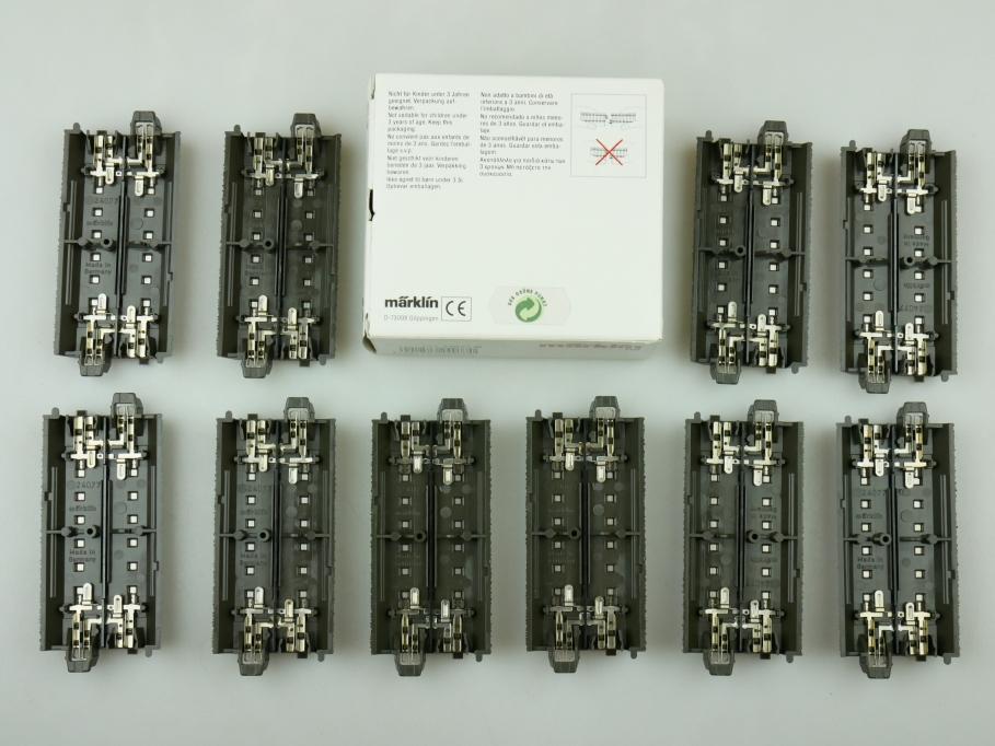 Märklin H0 AC Gerades C-Gleis 24077 10x unbenutzt OVP PTA 109470