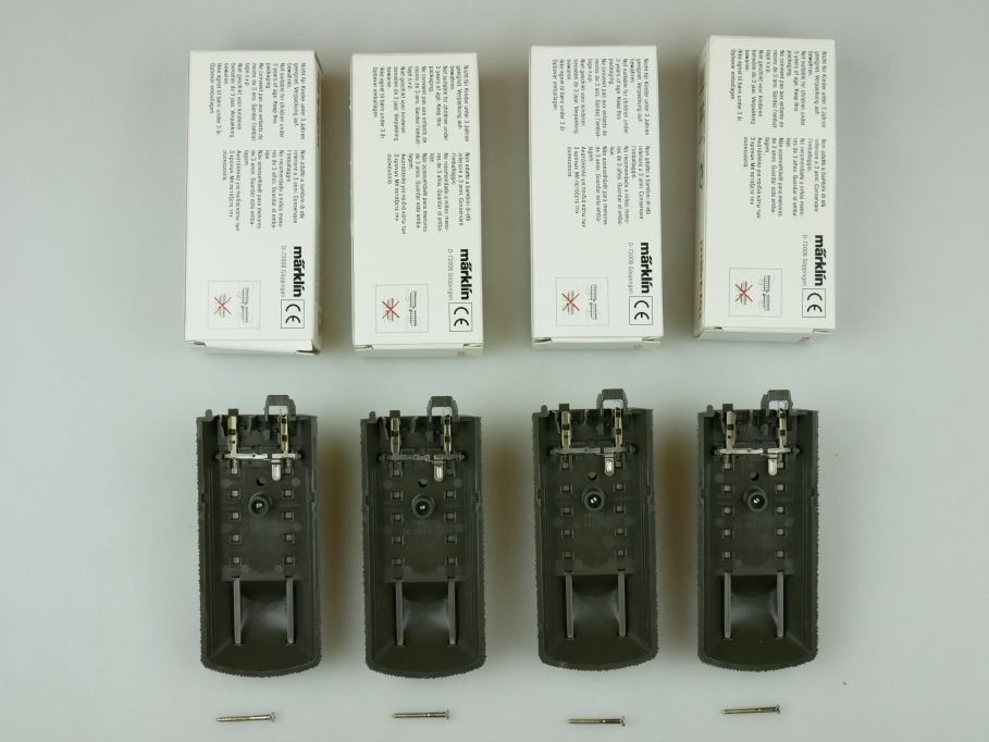 Märklin H0 AC C-Gleis Gleis-Ende mit Prellbock 24977 4x unbenutzt OVP PTA 109473