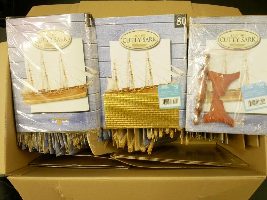 delPrado 1/90 Cutty Sark Ausgaben 1-100 komplett Schiff model kit 109529