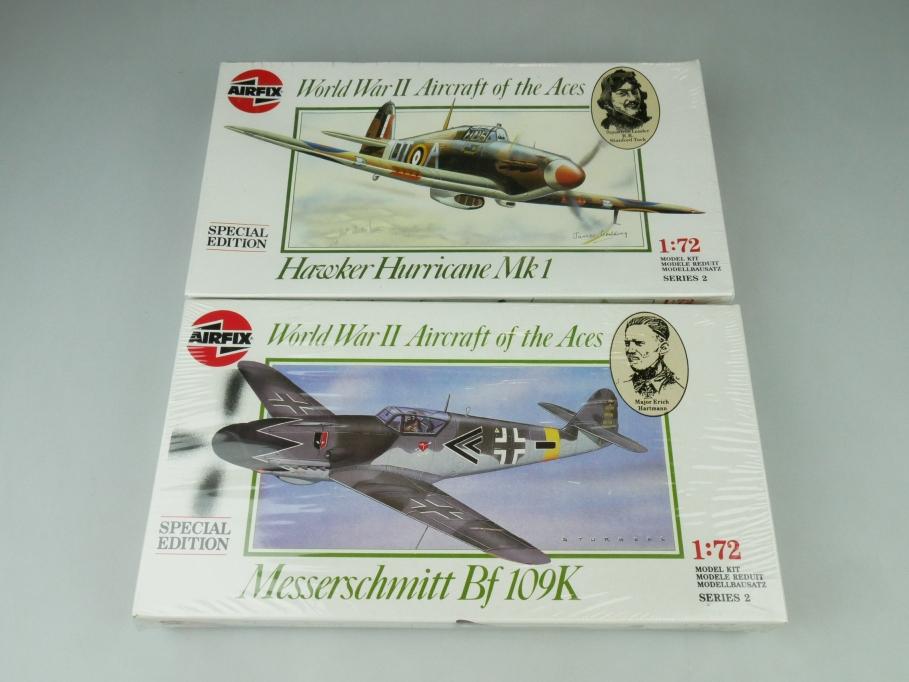 Airfix 1/72 Konvolut Messerschmitt Bf / Hawker Hurricane Mk OVP plane kit 109478