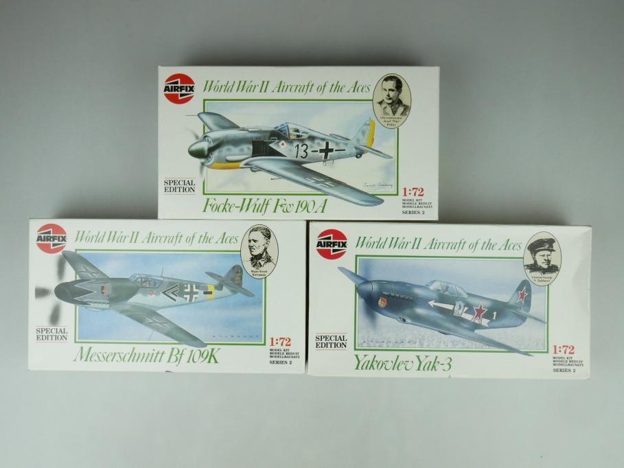 Airfix 1/72 Konvolut Focke-Wulf / Yakovlev Yak-3 / Messeschmitt plane kit 109481
