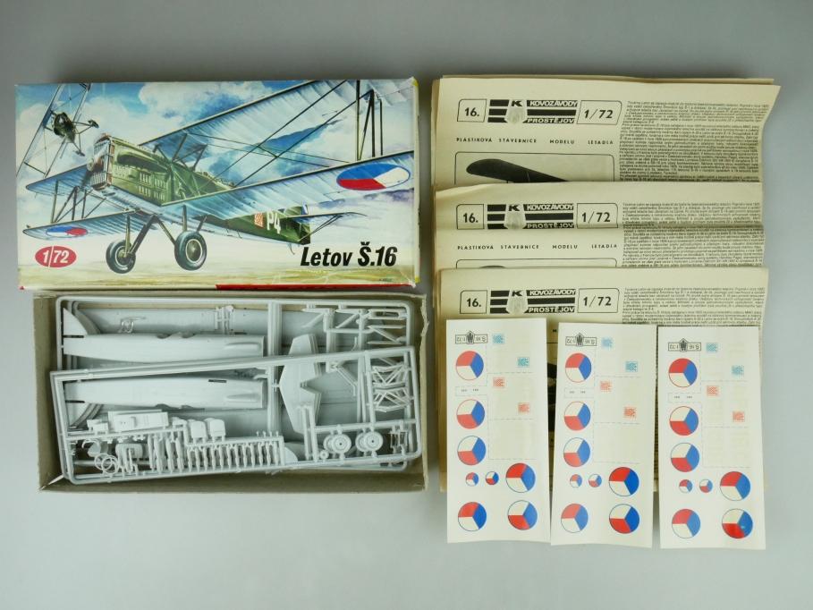 KP Plastikovy Model 1/72 Konvolut 3x Letov S.16 prop plane kit 109509