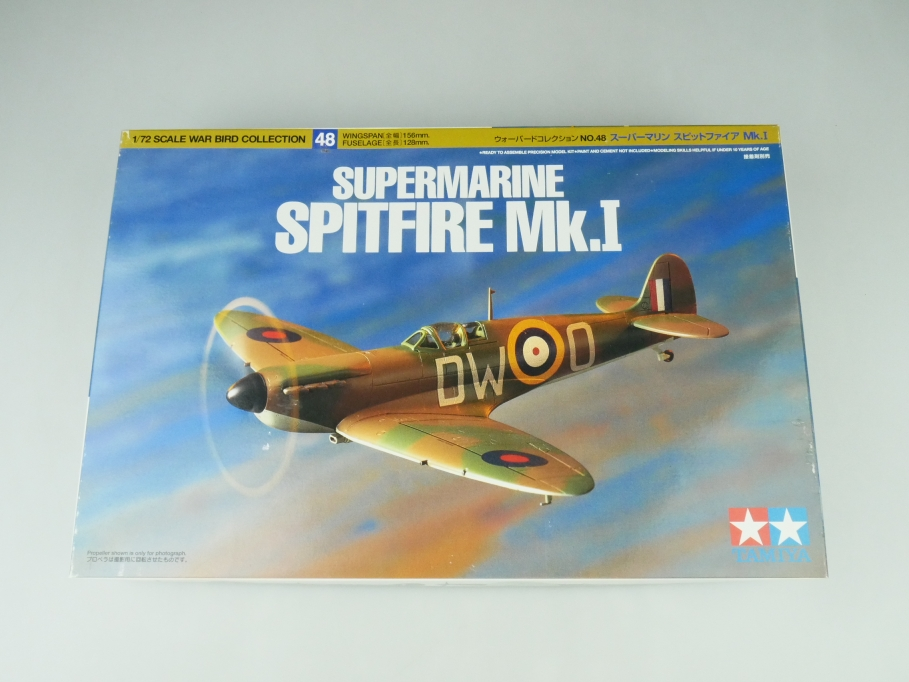 Tamiya 1/72 Supermarine Spitfire Mk.1 No. 48 OVP plane kit 109523