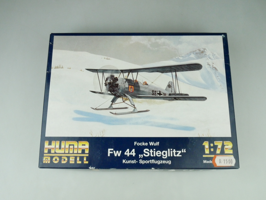 "Huma 1/72 Fw 44 Focke Wulf ""Stieglitz"" Nr. 2500 OVP model kit 109530"