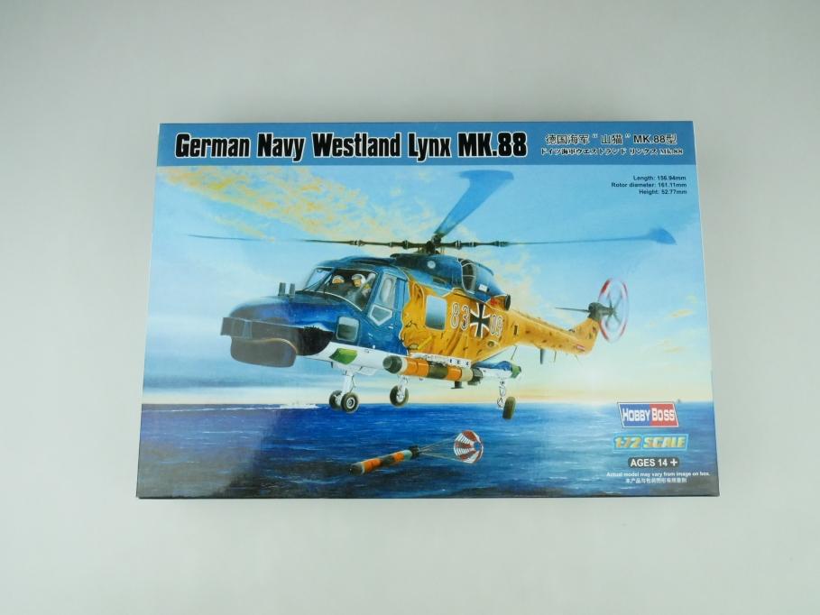 HobbyBoss 1/72 German Navy Westerland Lynx MK.88 OVP helicopter model kit 109532