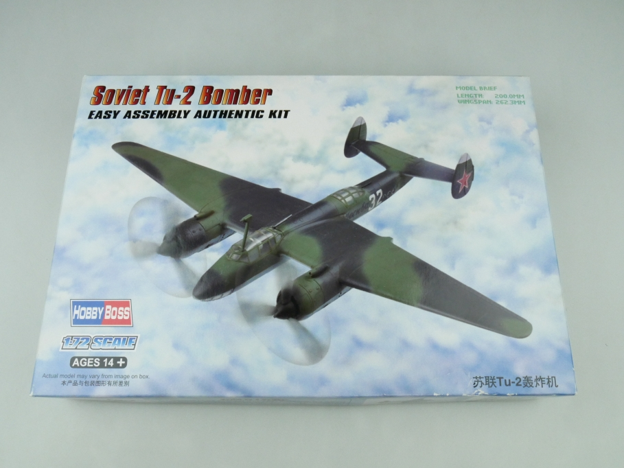 HobbyBoss 1/72 Soviet Tu-2 Bomber No. 80289 OVP plane model kit 109533