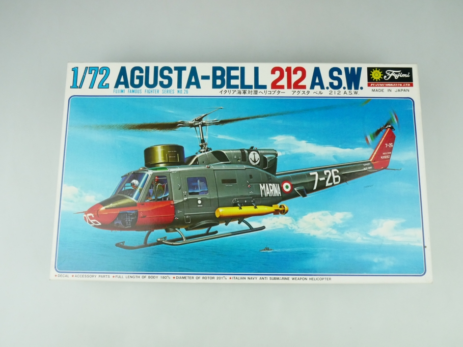 Fujimi 1/72 Augusta-Bell 212 A.S.W. No. 7A26 OVP helicopter model kit 109535