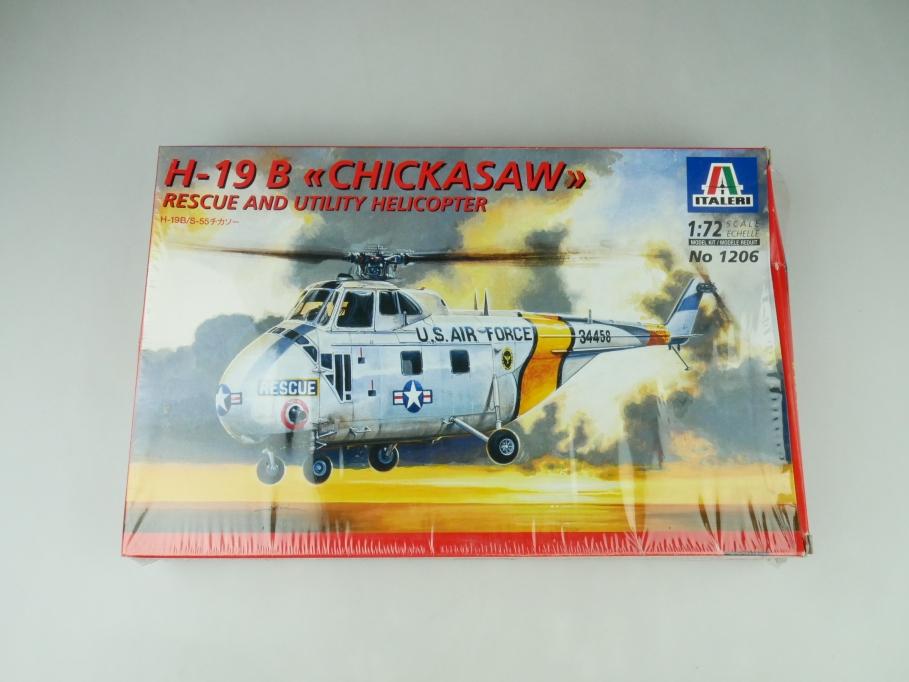 "Italeri 1/72 H-19 B ""Chicksaw"" No. 1206 OVP helicopter model kit 109540"