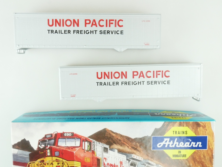 Athearn H0 05173 40 ft Trailer Set 2x Union Pacific Kit Bausatz + Box PTa 109497
