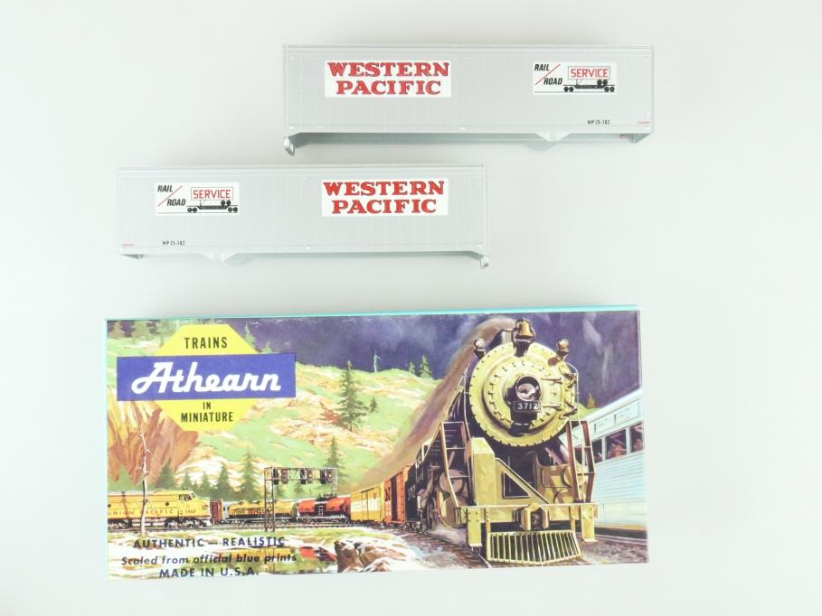 Athearn H0 05174 40 ft Trailer Set Western Pacific  Kit Bausatz + Box PTa 109500