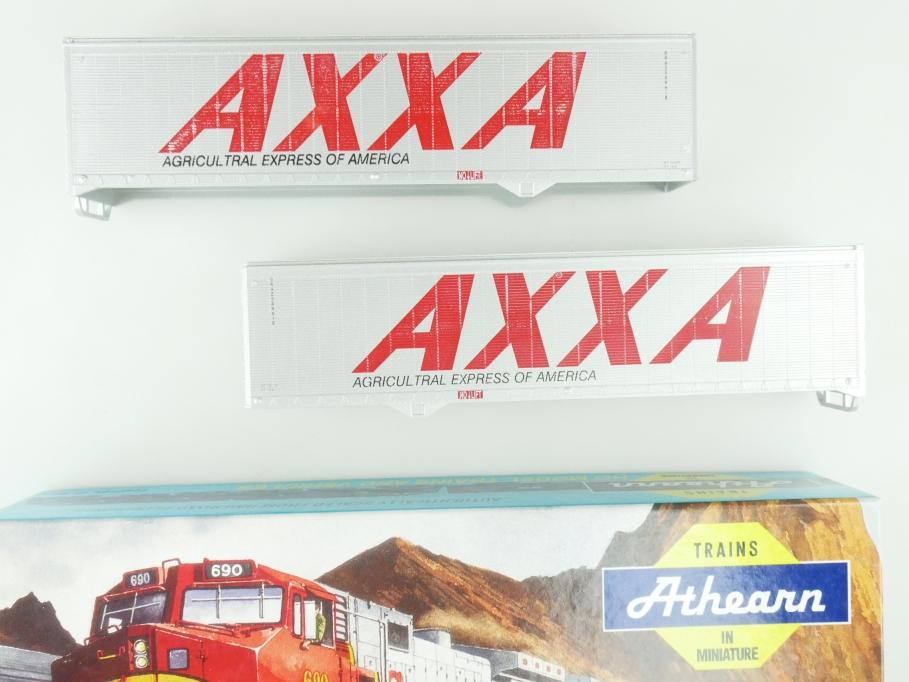 Athearn H0 05176 40 ft Trailer Set (2) AXXA  Kit Bausatz + Box PTa 109527