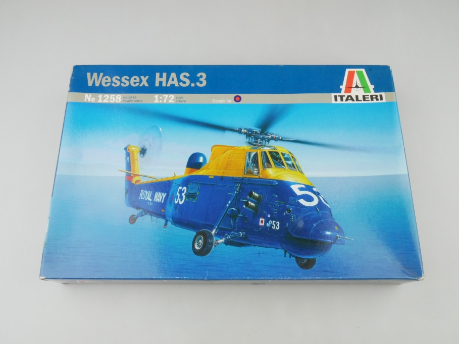 Italeri 1/72 Wessex HAS.3 No 1258 OVP helicopter model kit 109543