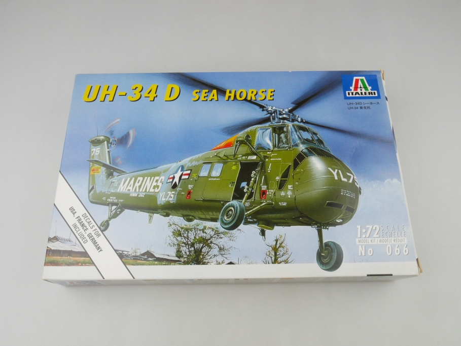 Italeri 1/72 UH-34 D Sea Horse No 066 OVP helicopter model kit 109546