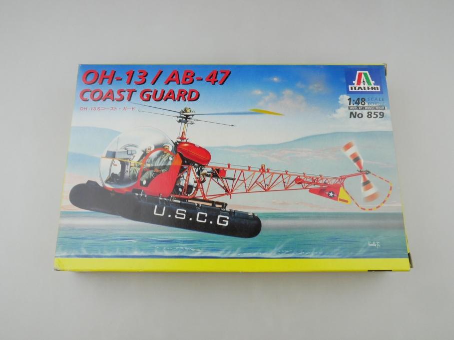 Italeri 1/72 OH-13 / AB-47 Coast guard No. 859 OVP helicopter model kit 109548