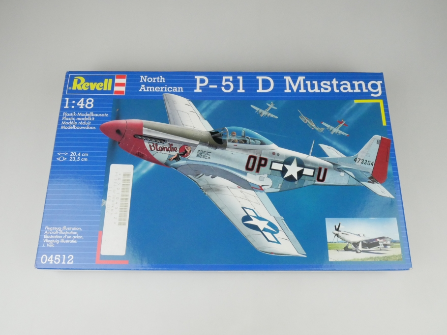 Revell 1/48 North American P-51 D Mustang No. 04512 OVP plane model kit 109607