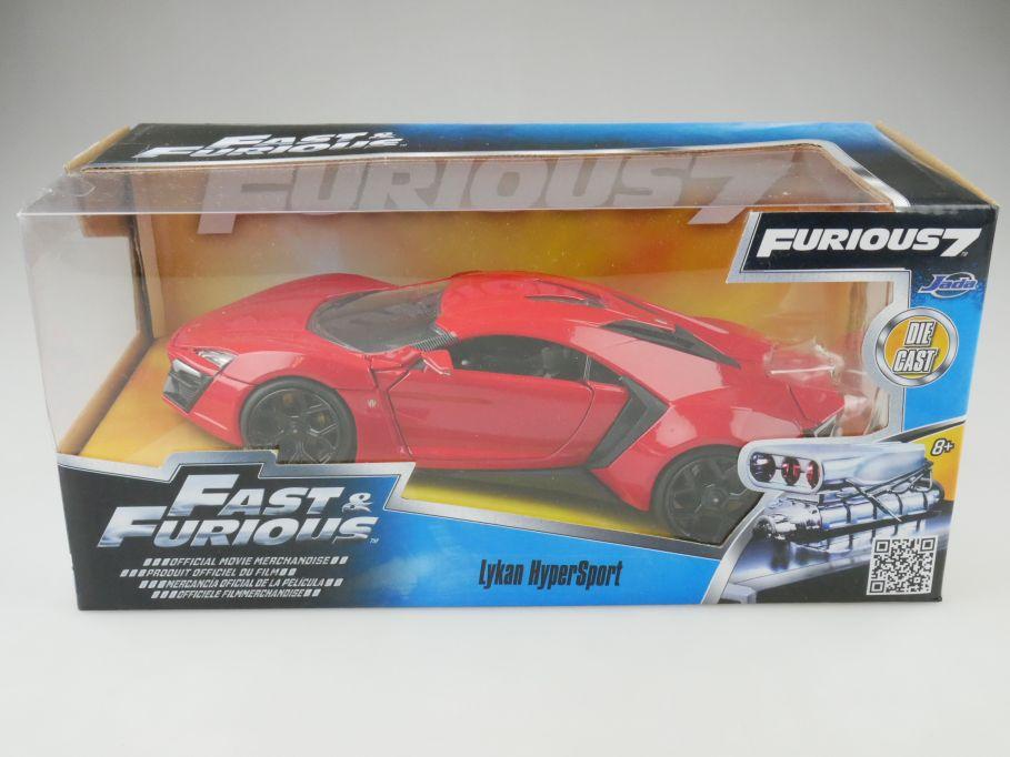 Fast & Furious 1:24 Lykan Hyper Sport 2014 Filmauto Jada 97377 + Box 109629