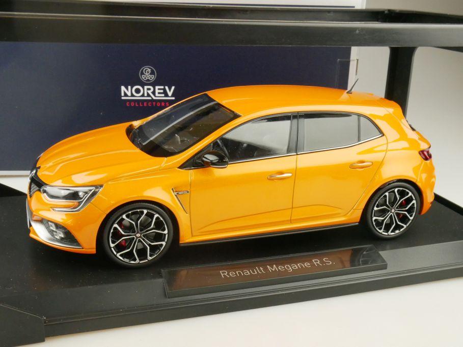 Norev 1/18 Renault Megane R.S. 2017 tonic orange 185225 + Box 109631