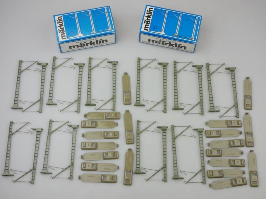 Märklin H0 AC 2x 7009 Oberleitungs-Masten M-Gleis 2x10 Stk. 24951 OVP PTA 109648