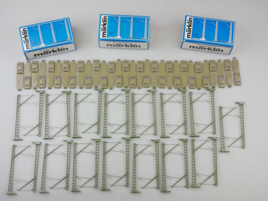 Märklin H0 AC 3x 7009 Oberleitungs-Masten M-Gleis 3x10 Stk. 24951 OVP PTA 109653