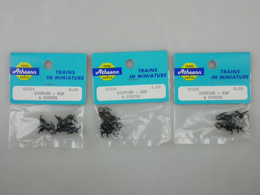 Athearn H0 90601 Kupplung (Horn Hook Couples x2E) 3x6 Stk in OVP PTA 109658