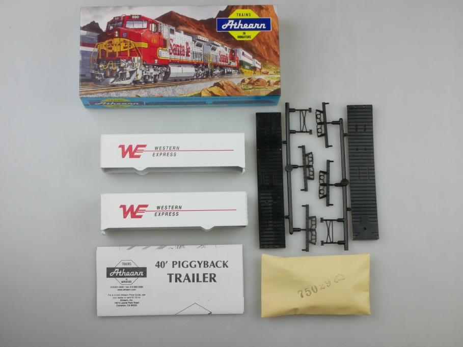 Athearn H0 05180 40 ft Trailer Set Western Express Bausatz Box PTA 109662