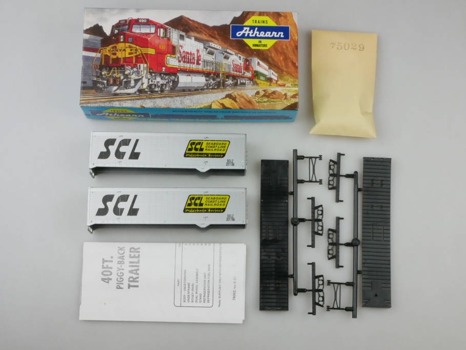 Athearn H0 5158 40 ft Trailer Set SCL Bausatz Box PTA 109664