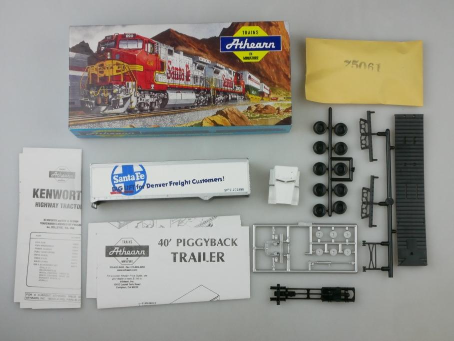 Athearn H0 5133 40 ft Trailer w/KW Santa Fe Denver Term Bausatz Box PTA 109669