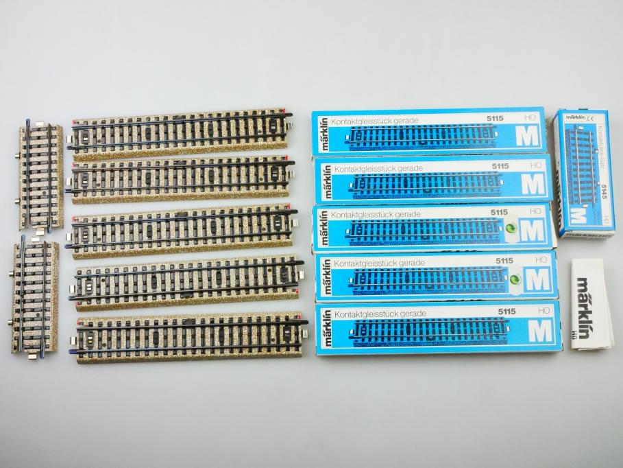 Märklin H0 AC M-Gleis Kontaktgleise unbenutzt 5x 5115 + 1x 5145 OVP PTA 109677