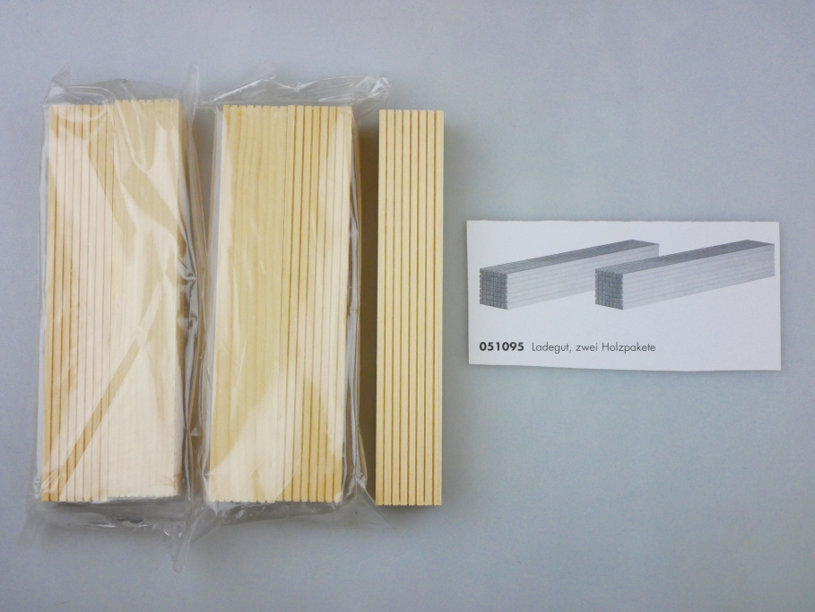 Herpa 051095 Ladegut 5x Holzpakete Holzstapel Wood planks PTA 109687